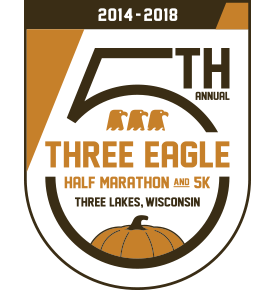 THE 5TH ANNUAL THREE EAGLE HALF MARATHON AND 5K @ The Reiter Center | Three Lakes | Wisconsin | United States