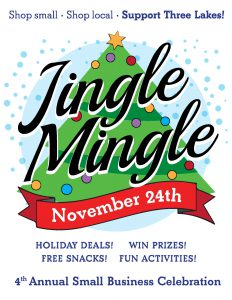 Jingle Mingle: Small Business Saturday @ Downtown Three Lakes